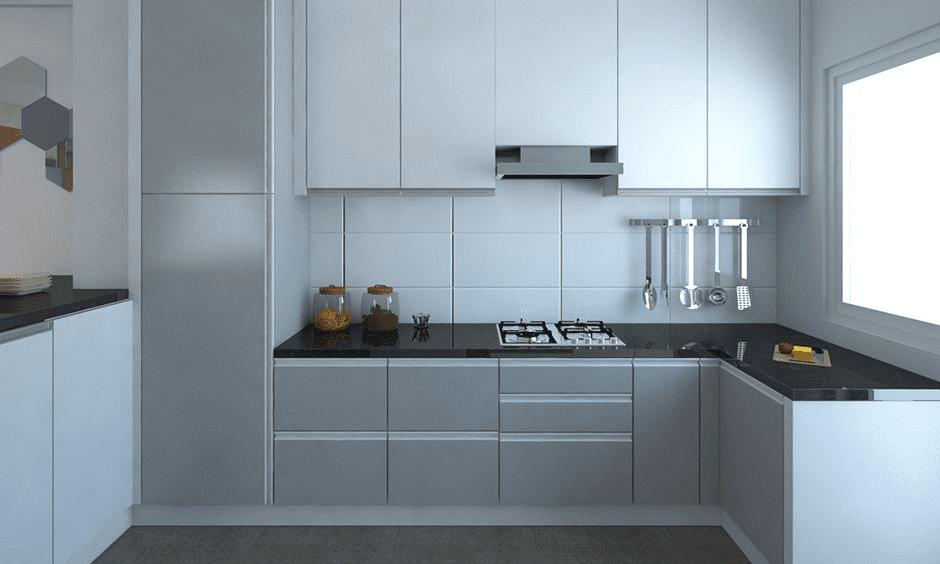 مطابخ الوميتال 2021 باللون الأبيض والرمادي